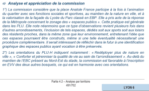 Analyse et appréciation commission enquete publique