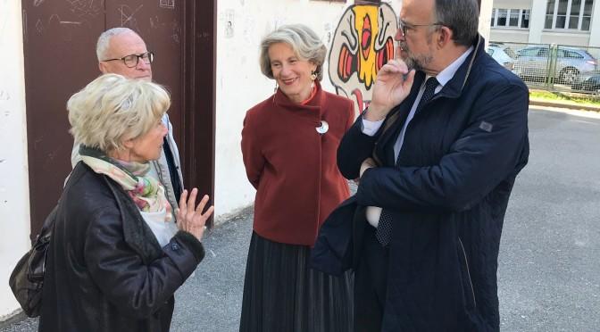 Des élus en campagne sur notre Stade Anatole France