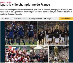 Lyon ville championne de France